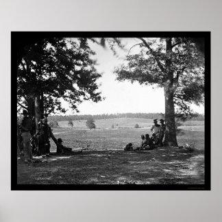 西の1862年からのヒマラヤスギ山の戦場 ポスター