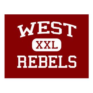 西の-反逆者-高等学校- Knoxvilleテネシー州 ポストカード