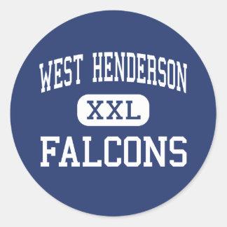 西のHenderson - 《鳥》ハヤブサ-高Hendersonville ラウンドシール