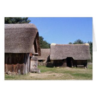 西のStowの英国のサクソンの村、サフォーク、イギリス カード