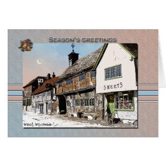 西のWycombeのクリスマスカード カード