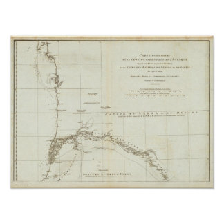 西アフリカの地図 ポスター