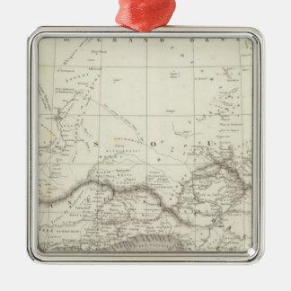西アフリカの地図 メタルオーナメント