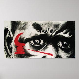 西アフリカの記号(戦争の角) ポスター