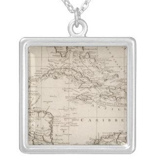 西インド諸島の図表 シルバープレートネックレス
