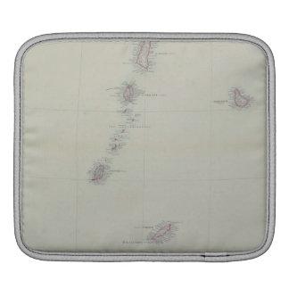 西インド諸島の地図 iPadスリーブ
