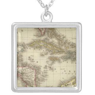 西インド諸島中央アメリカ シルバープレートネックレス