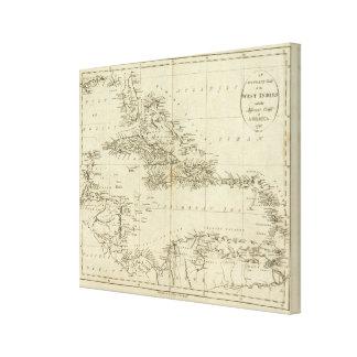 西インド諸島2の地図 キャンバスプリント