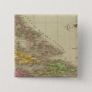 西インド諸島 5.1CM 正方形バッジ