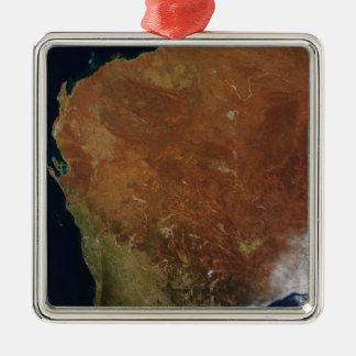 西オーストラリアの衛星眺め メタルオーナメント