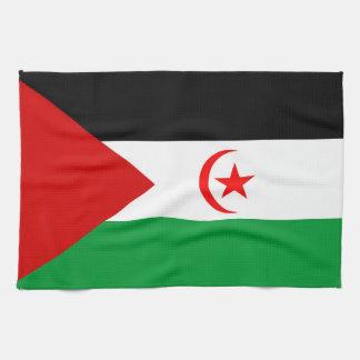 西サハラの国旗タオル キッチンタオル