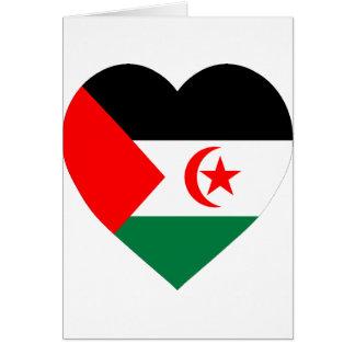 西サハラの旗のハート カード