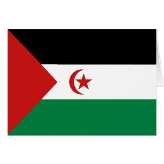 西サハラの旗Notecard カード
