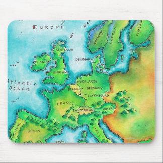 西ヨーロッパの地図 マウスパッド