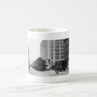 西側のカウボーイ、列車、NYCのマグ コーヒーマグカップ