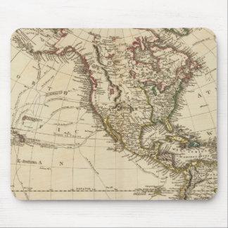 西半球の回状の地図 マウスパッド