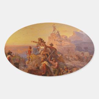 西方にHo! - 1860年 楕円形シール