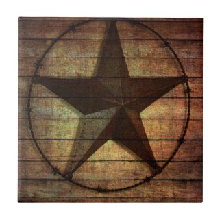 西欧諸国の初期のな納屋の木製のテキサス州星 タイル