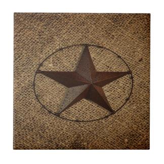 西欧諸国の素朴なバーラップの初期のなテキサス州星 タイル