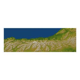 西海岸に沿う高山の欠陥 フォトプリント