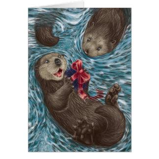 西海岸のクリスマス: カワウソ カード