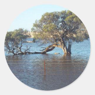 西海岸の洪水の水 ラウンドシール