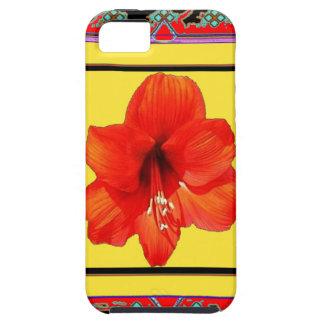 西部のアマリリスの赤黄色いデザイン iPhone SE/5/5s ケース