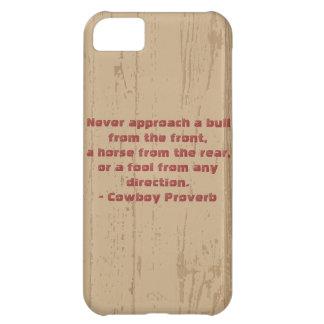 西部のカウボーイの諺 iPhone5Cケース