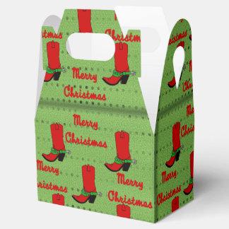 西部のクリスマスのカウボーイ・ブーツのギフト用の箱 フェイバーボックス