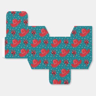 西部のクリスマスのカーボーイ・ハットおよびキャンディ・ケーン フェイバーボックス