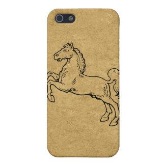 西部のスタイルの金馬のSpeckの場合のiPhone 4 iPhone 5 カバー