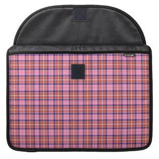 西部のタータンチェックのピンク MacBook PRO用スリーブ