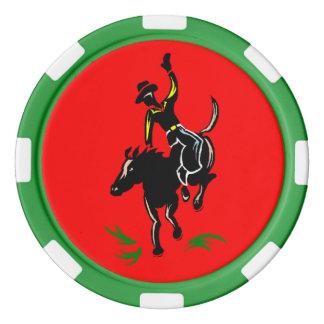 西部のテキサス州の把握EmのカウボーイのBroncのポーカー用のチップ ポーカーチップ
