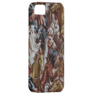 西部のテーマの馬のiPhone 5の場合 iPhone SE/5/5s ケース