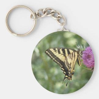 西部のトラのアゲハチョウの蝶 キーホルダー