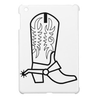 西部のブーツの輪郭 iPad MINIケース