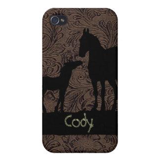 西部のロバの子馬は一流の場合のiPhone 4を加えます iPhone 4 ケース