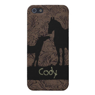 西部のロバの子馬は一流の場合のiPhone 4を加えます iPhone 5 カバー