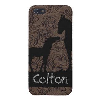 西部のロバの子馬は一流の場合のiPhone 4を加えます iPhone SE/5/5sケース