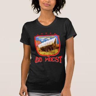 西部の先駆的暗いTシャツ Tシャツ