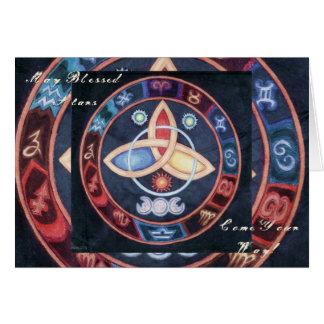 西部の占星術の車輪 カード