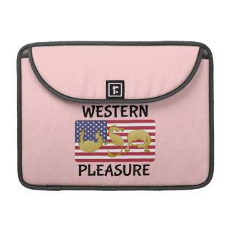 西部の喜びの馬米国 MacBook PROスリーブ