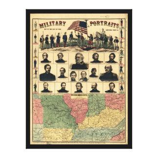 西部の寄宿生は示します軍のポートレート(1861年)を キャンバスプリント