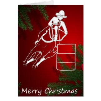西部の挨拶状のクリスマスのバレルの競争 カード