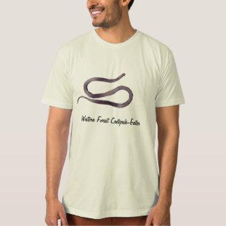 西部の森林ムカデ食べる人のオーガニックなTシャツ Tシャツ