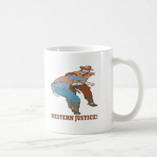 西部の正義 コーヒーマグカップ