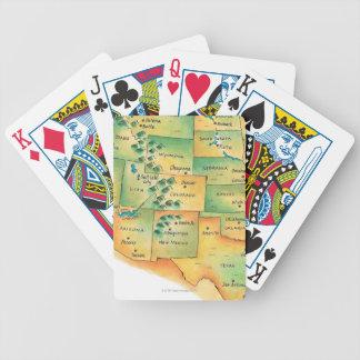 西部の米国の地図 バイスクルトランプ