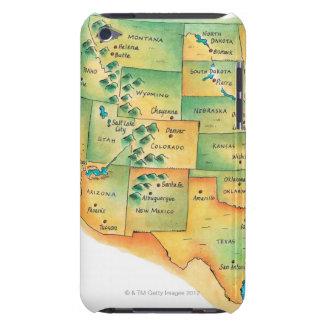 西部の米国の地図 BARELY THERE iPod カバー