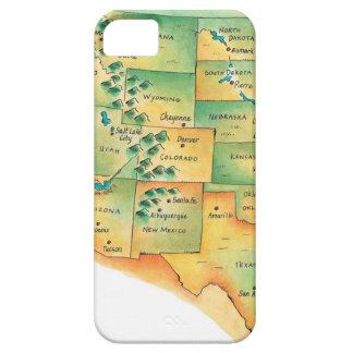 西部の米国の地図 iPhone 5 ベアリーゼアケース