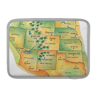 西部の米国の地図 MacBook AIR スリーブ
